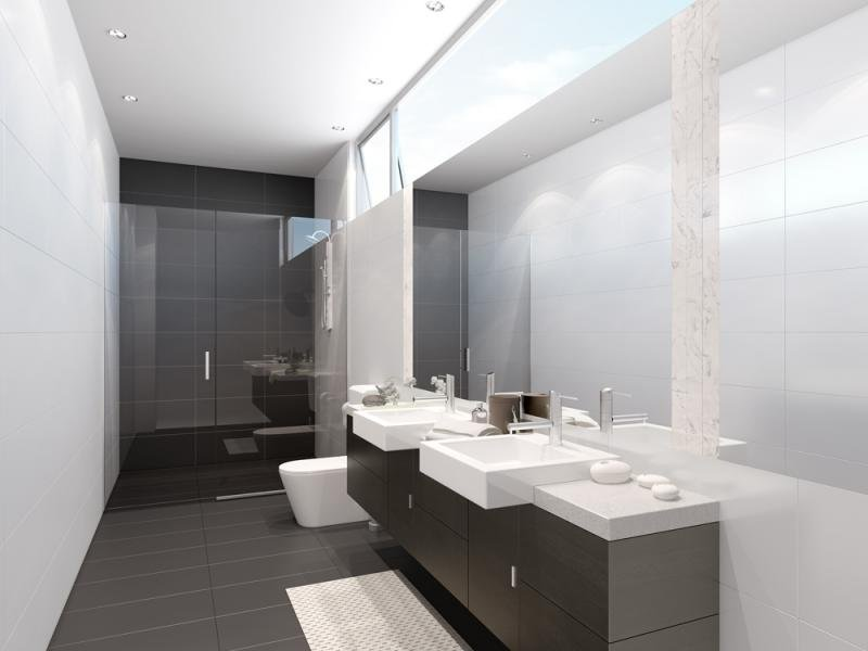 Contemporary bathroom interior interior design for Modern ensuite ideas