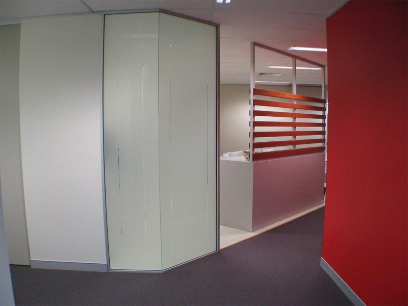 commercial_renovations. commercial_renovations. Signature Red interior design. Frosted glass. Eco wood.